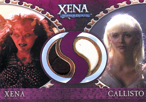 Xena Dangerous Liaisons Xena and Callisto Double Costume Card DC3   - TvMovieCards.com