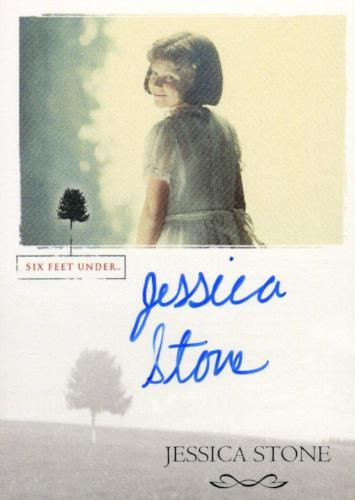 Six Feet Under Seasons 1 & 2 Jessica Stone as Young Brenda Autograph Card   - TvMovieCards.com