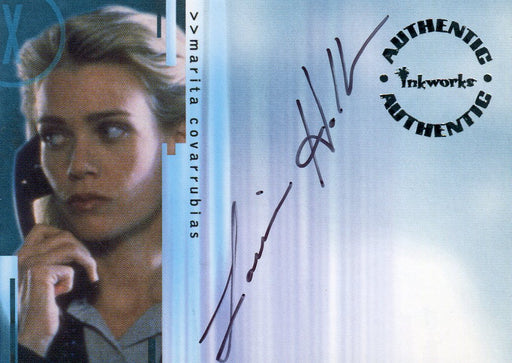 X-Files Seasons 4 & 5 Laurie Holden as Marita Covarrubias Autograph Card a4   - TvMovieCards.com