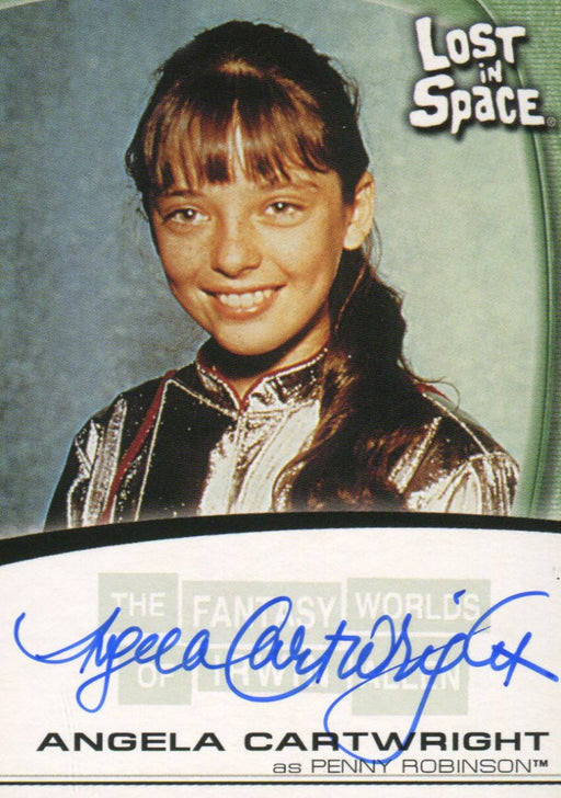 Fantasy Worlds of Irwin Allen Lost in Space Angela Cartwright Autograph Card A10   - TvMovieCards.com