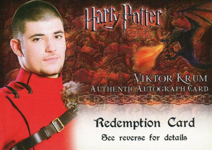 Harry Potter and the Goblet of Fire Stanislav Janevski Autograph Redemption Card   - TvMovieCards.com