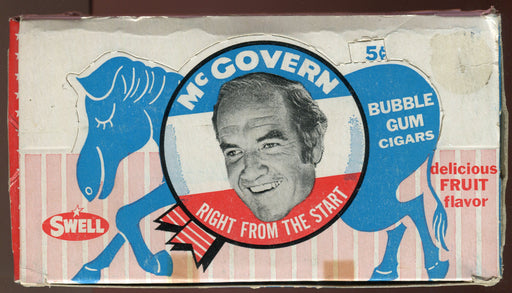 Presidential Candidate George McGovern Bubble Gum Cigars Vintage Box Swell 1968   - TvMovieCards.com