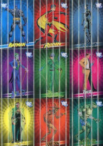 Batman Archives DC Lenticular Chase Card Set L1 thru L9   - TvMovieCards.com