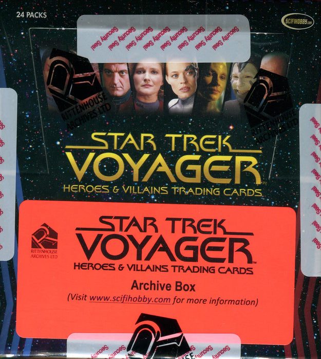 Star Trek Voyager Heroes & Villains Archive Card Box   - TvMovieCards.com