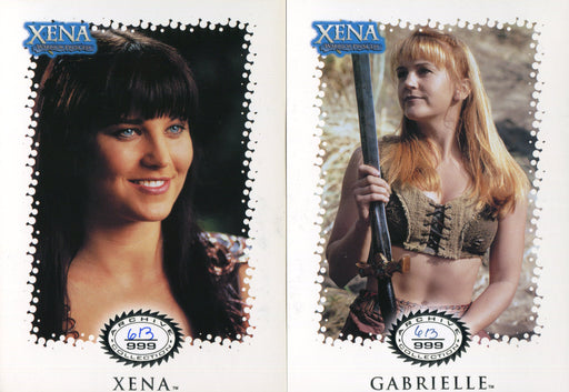 Xena Warrior Princess Archive Collection Limited Edition Card Set X1-X5 #613/999   - TvMovieCards.com