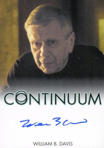 Continuum Seasons 1 & 2 William B. Davis as Older Alec Sadler Autograph Card   - TvMovieCards.com