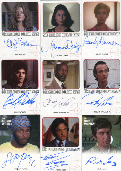Bionic Collection Autograph Card Set 32 Cards plus 2 Dealer Incentive Cards   - TvMovieCards.com