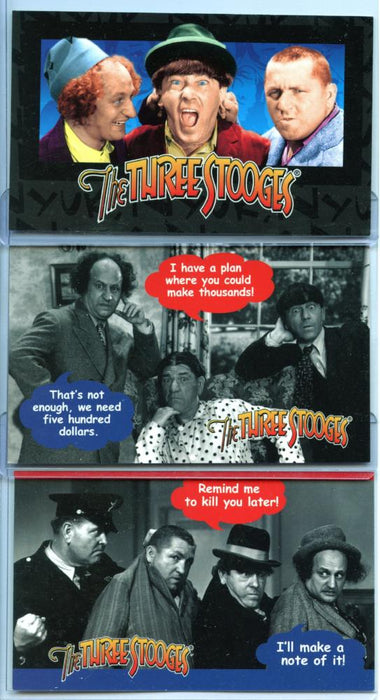 Three Stooges Box Card Chase Set WB-1 - WB-3   - TvMovieCards.com