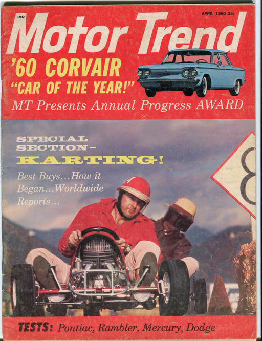 "April 1960 Motor Trend Car Magazine - 1960 Corvair ""Car of the Year"""