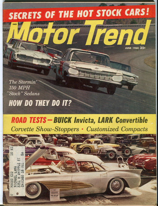 June 1960 Motor Trend Car Magazine - Secrets of the Hot Stock Cars!