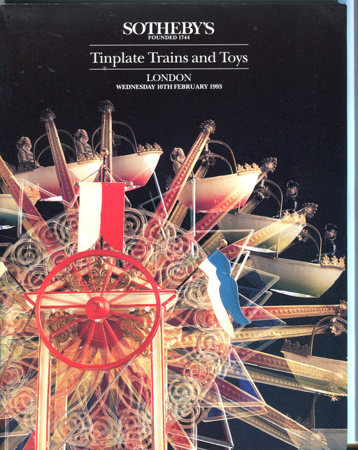 Sothebys Auction Catalog Feb 10 1993 Tinplate Toy Trains Bing Marklin Teddy Bear   - TvMovieCards.com