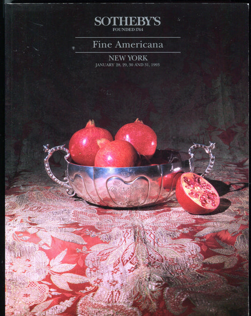 Sothebys Auction Catalog Jan 28 1993 Fine Americana Furniture Chinese Porcelain   - TvMovieCards.com