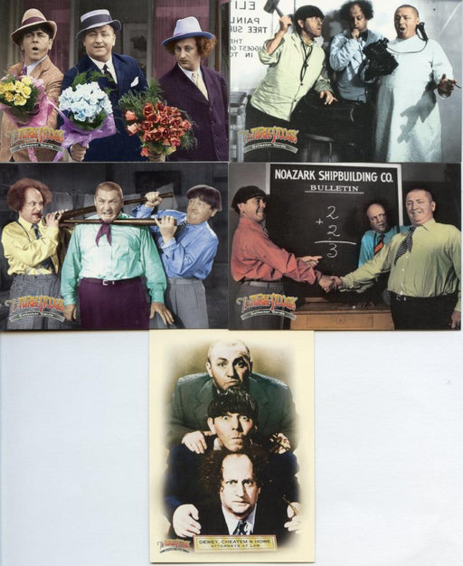 Three Stooges 5 Card Promo Set   - TvMovieCards.com