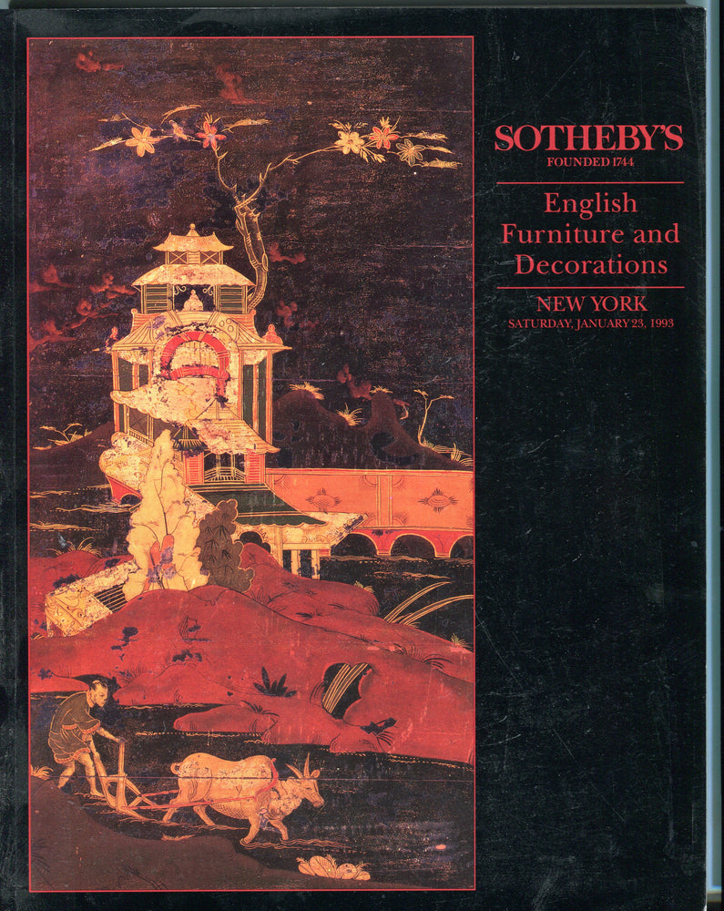 Sothebys Auction Catalog Jan 23 1993 English Furniture & Decorations   - TvMovieCards.com