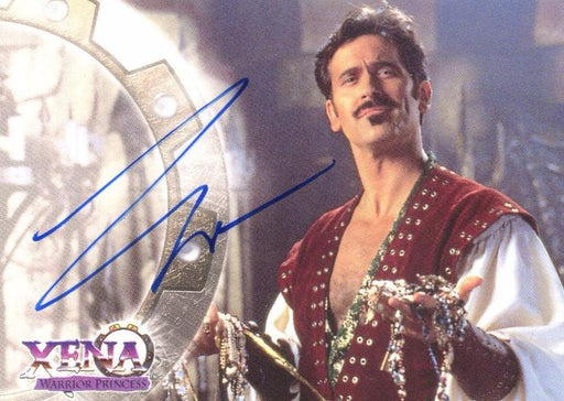Xena Series II Two Topps Bruce Campbell as Autolycus Autograph Card A3   - TvMovieCards.com