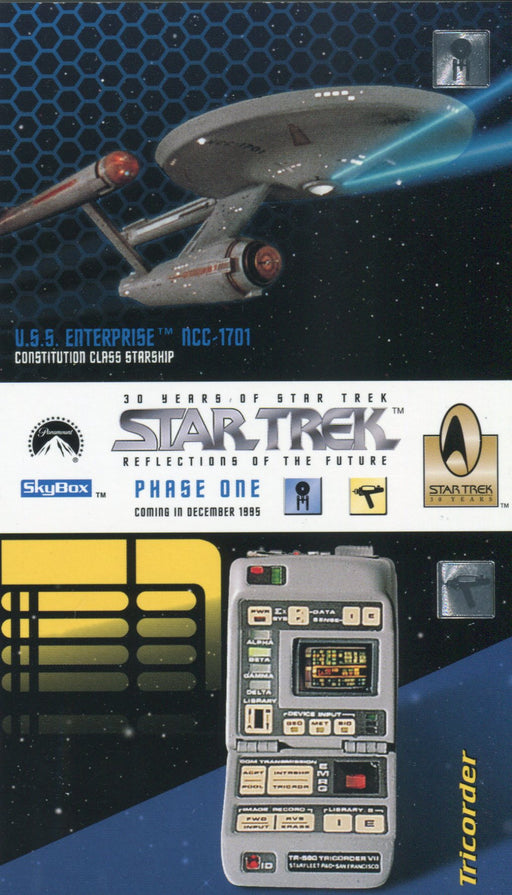 Star Trek 30 Years Phase 1 One Oversize Promo Card Single Card   - TvMovieCards.com