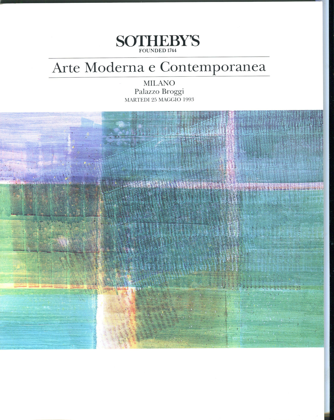 Sothebys Auction Catalog May 25 1993 Modern and Contemporary Art Milan