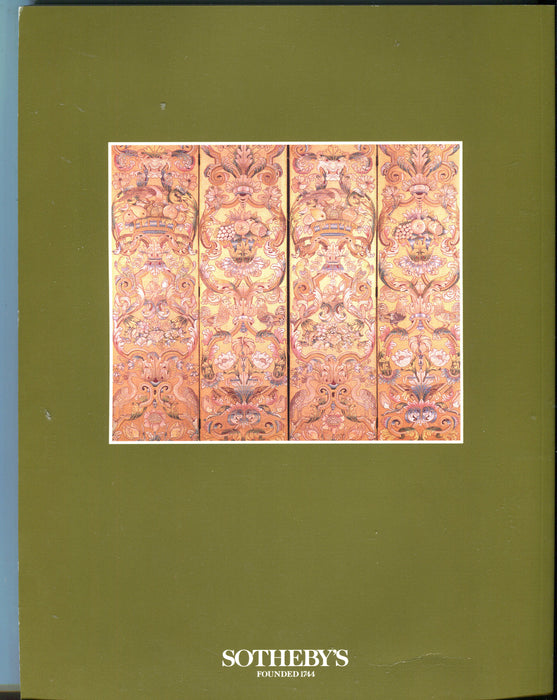 Sothebys Auction Catalog May 22 1993 French Furniture Decorations Ceramic Carpet   - TvMovieCards.com