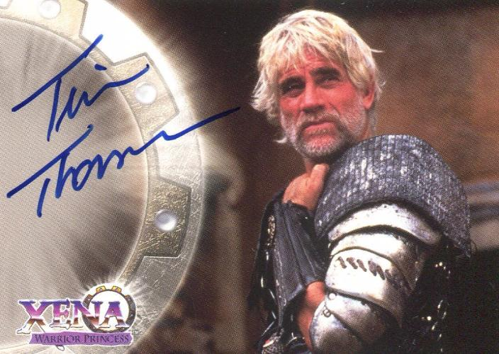 Xena Series II Two Topps Tim Thomerson as Meleager Autograph Card A8   - TvMovieCards.com