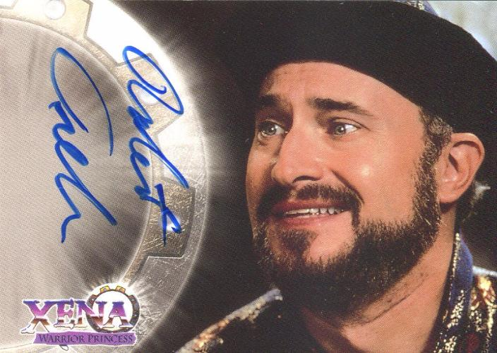 Xena Series II Two Topps Robert Trebor as Salmoneus Autograph Card A9   - TvMovieCards.com