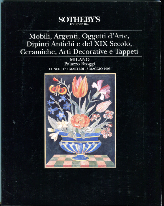 Sothebys Auction Catalog May 18 1993 Mobili, Argenti, XIX Secolo   - TvMovieCards.com