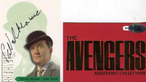 Avengers TV Series 3 Gold Additions Patrick Macnee as John Steed Autograph Card   - TvMovieCards.com