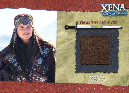 Xena Season Six Lucy Lawless as Xena Album Exclusive Costume Card R6   - TvMovieCards.com