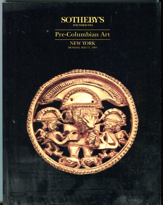 Sothebys Auction Catalog May 17 1993 Pre-Columbian Art