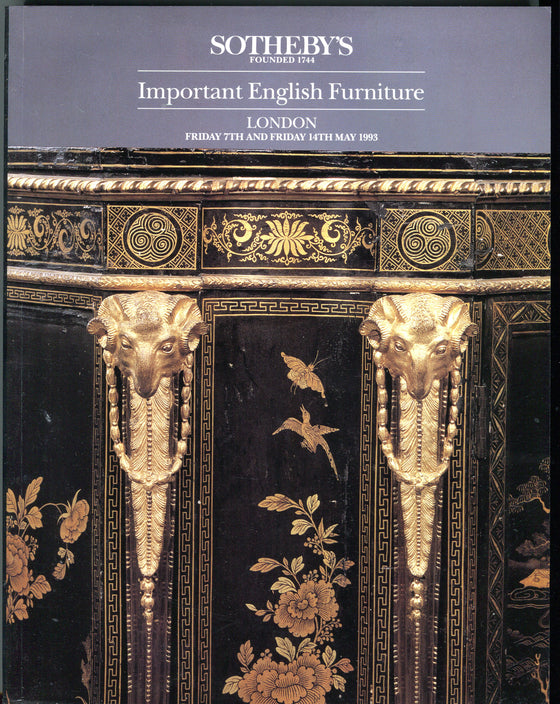 Sothebys Auction Catalog May 7 & 14 1993 Important English Furniture