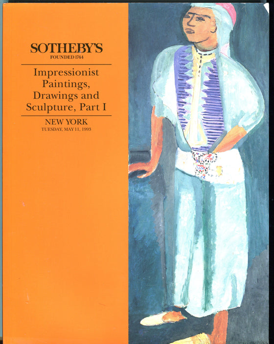Sothebys Auction Catalog May 11 1993 Impressionist Modern Paintings Drawings NY