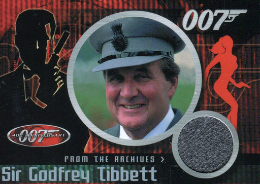 James Bond 40th Anniversary Patrick Macnee Costume Card CC3   - TvMovieCards.com