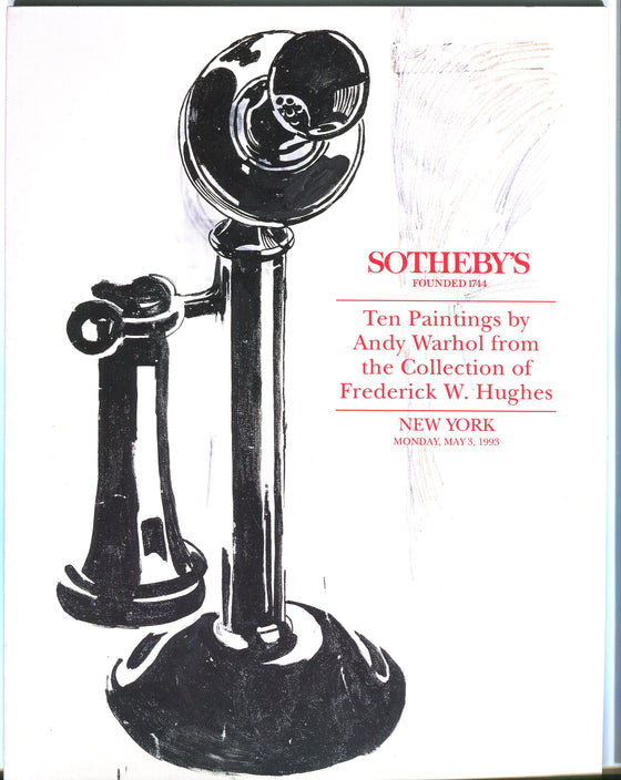 Sothebys Auction Catalog May 1993 10 Paintings by Andy Warhol Hughes Collection