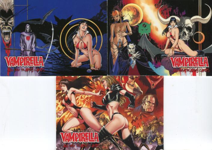 Vampirella New Series Friend's Gallery Box Topper Card Set 3 Cards Front