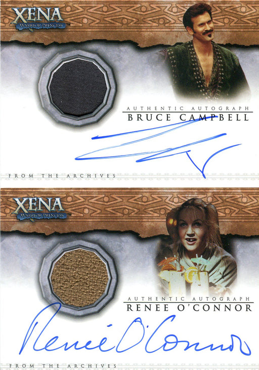 Xena Dangerous Liaisons Campbell & O'Connor Autograph Costume Card Set AC11 AC12   - TvMovieCards.com