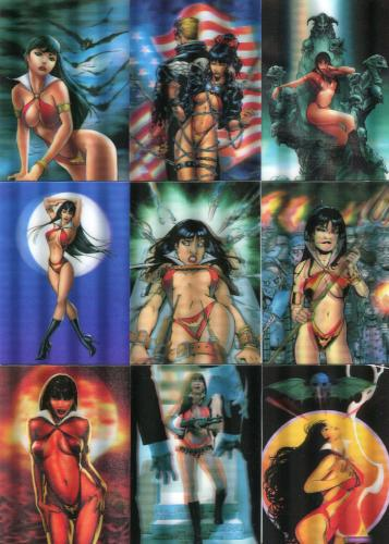 Vampirella New Series 3-D Lenticular Chase Card Set 15 Cards Front1