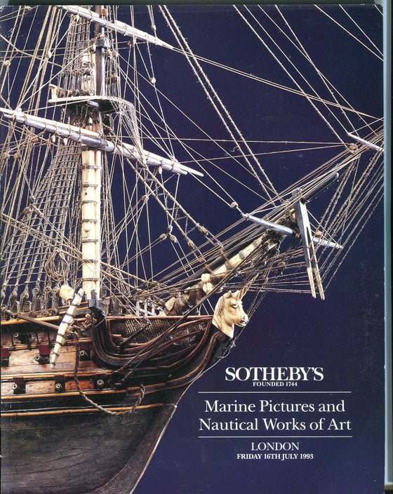Sothebys Auction Catalog July 16 1993 Marine Pictures and Nautical Works of Art