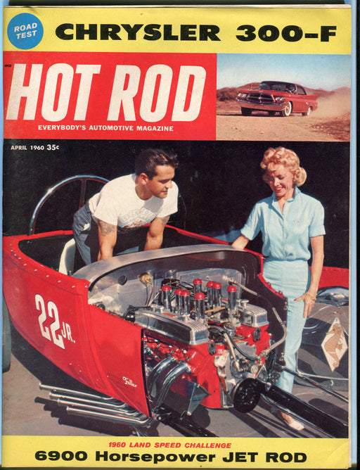 April 1960 Hot Rod Magazine - Chrysler 300-F 6900 Horsepower Jet Rod   - TvMovieCards.com