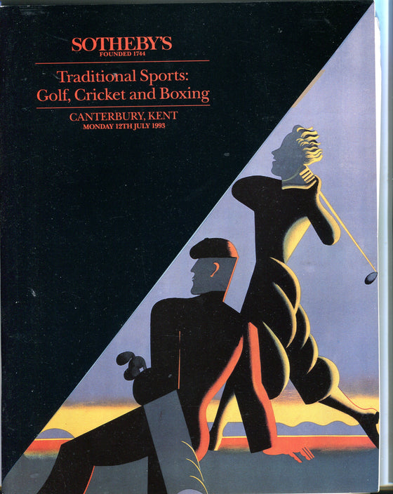 Sothebys Auction Catalog July 12 1993 Traditional Sports Golf Cricketet Boxing