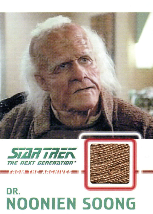 Star Trek TNG Heroes & Villains Costume Card Dr. Noonien Soong C10 062/275   - TvMovieCards.com
