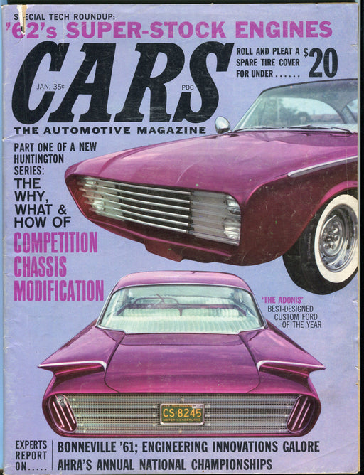 January 1962 Magazine - '62's Super Stock Engines Competition Chassis Mods   - TvMovieCards.com