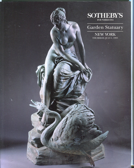 Sothebys Auction Catalog July 1 1993 Garden Statuary New York
