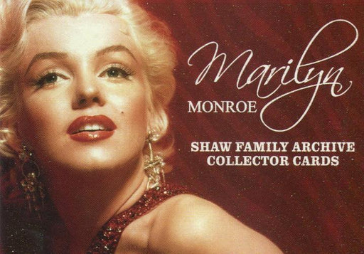 Marilyn Monroe Shaw Family Archive Base Card Set 72 Cards   - TvMovieCards.com
