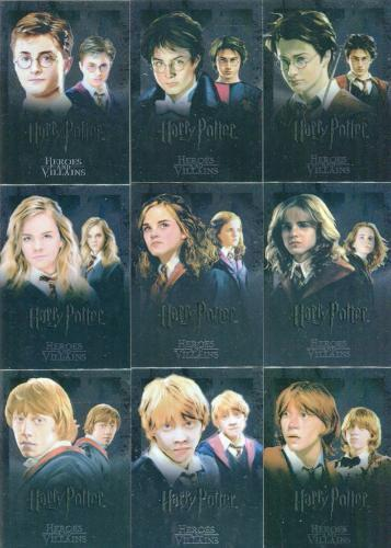 Harry Potter Heroes & Villains Foil Puzzle Chase Card Set 9 Cards   - TvMovieCards.com