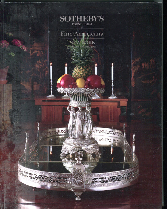 Sothebys Auction Catalog June 23 & 24 1993 Fine Americana New York