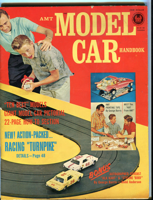 1962 AMT Model Car Handbook Magazine - Slot Car Painting Tips George Barris   - TvMovieCards.com