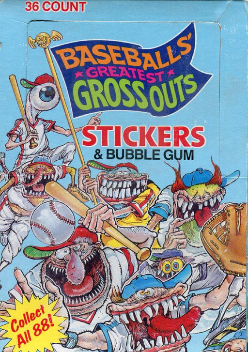 Baseball's Greatest Grossouts Sticker Card Box   - TvMovieCards.com