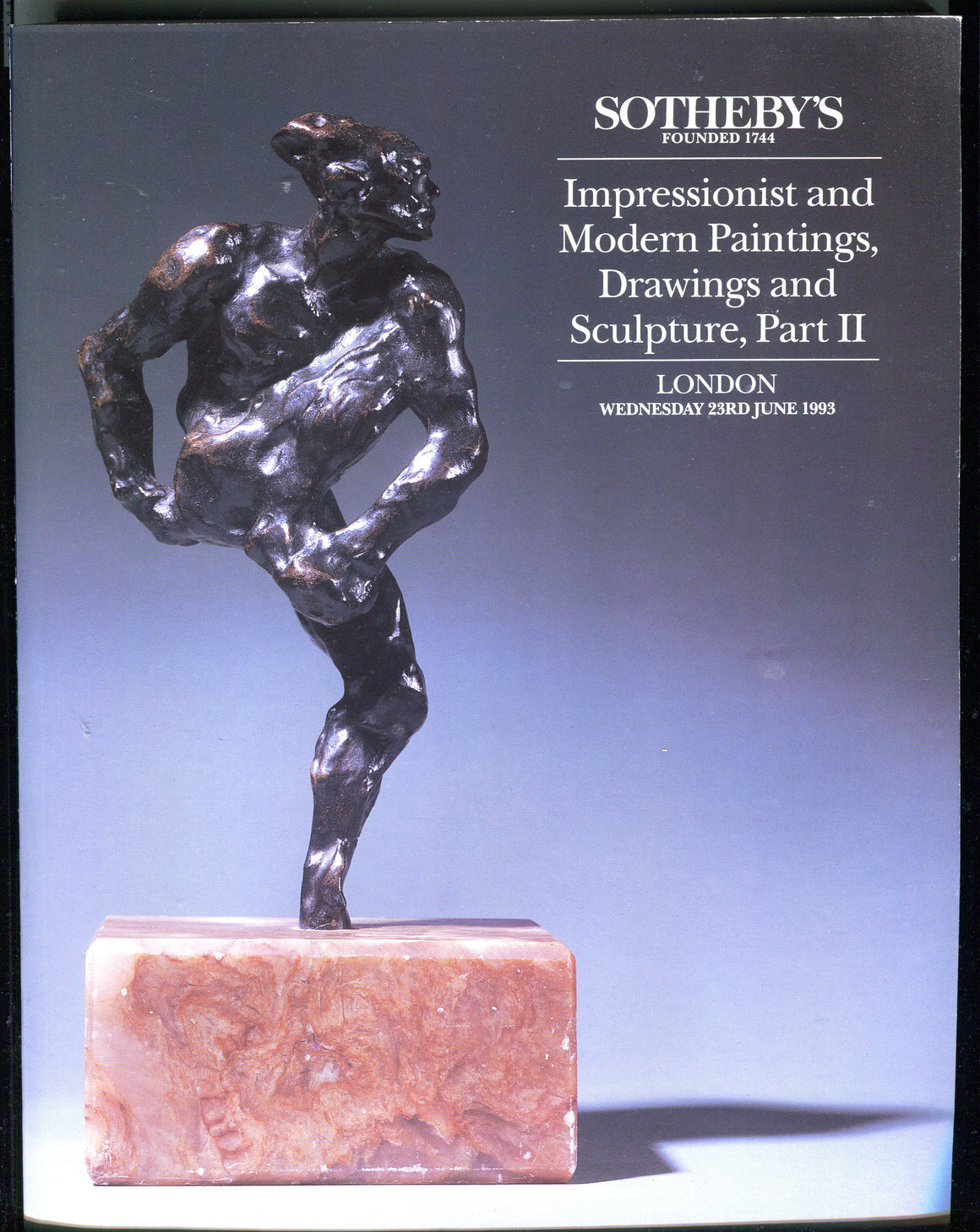 Sothebys Auction Catalog June 1993 Impressionist Modern Paintings Drawings