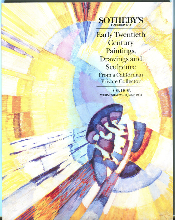 Sothebys Auction Catalog June 1993 20th Century Paintings Drawings Sculpture