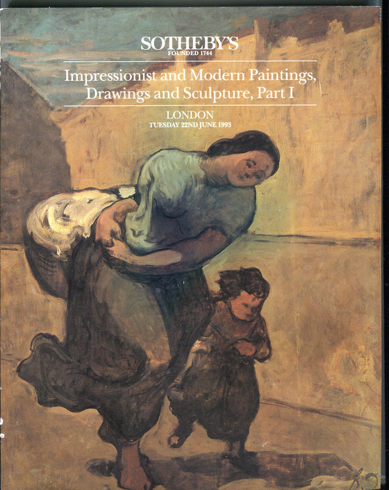 Sothebys Auction Catalog June 22 1993 Impressionist Modern Paintings Drawings