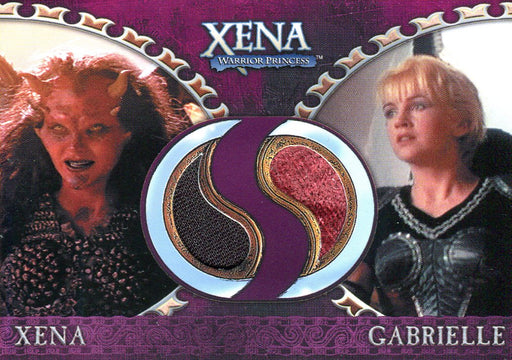 Xena Dangerous Liaisons Xena and Gabrielle Double Costume Card DC10   - TvMovieCards.com